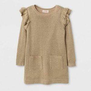Cat & Jack Toddler Girls Crew Neck Sweater Dress,